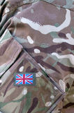 British Army soldier camouflage uniform Stock Photography