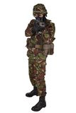 British Army Soldier in camouflage uniforms. Isolated on white Stock Photography