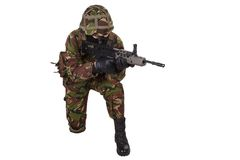 British Army Soldier in camouflage uniforms Royalty Free Stock Photography