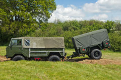 British army truck and trailer Stock Photo