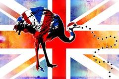 British art design illustration Stock Image