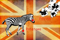 British art design illustration Royalty Free Stock Image