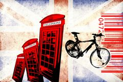 British art design illustration Royalty Free Stock Images