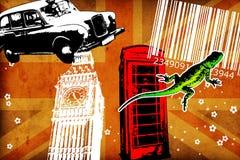 British art design illustration Royalty Free Stock Photo