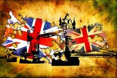British art design illustration Royalty Free Stock Photos