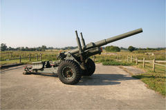 British Artillery from WW2. British Artillery piece from world war 2. The gun may be a 17 pdr. Location France Royalty Free Stock Photography
