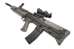 British assault rifle L85 Stock Photo