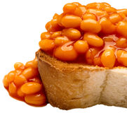 British baked bean toast Stock Photography