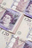 British bank notes pounds sterling Royalty Free Stock Photos