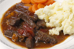 British beef stew closeup Stock Photos