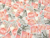British Bills. A lot of of British bills Stock Photography