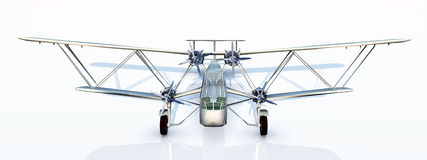 British Biplane Airliner from the 1930s Stock Photos