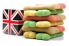 British box ans dog treats Royalty Free Stock Photos