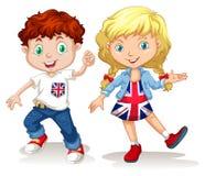 British boy and girl smiling Stock Photos