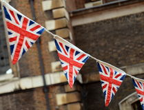 British Bunting. A Patriotic Image Of British Bunting At A National Event Stock Image
