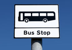British bus stop sign. Royalty Free Stock Photos