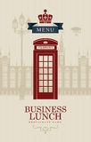 British business lunches Royalty Free Stock Photos