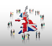 British business people vector with flag Stock Photo