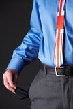 British Businessman Wearing Union Jack Tie Pulling Out Pocket To. British Businessman Wearing Union Jack Tie Pulling Out Pockets Royalty Free Stock Photos