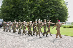British cadets marching at the 96th anniversary of the Battle o Royalty Free Stock Image