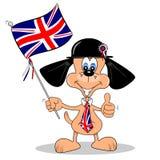 A British Cartoon Dog royalty free illustration