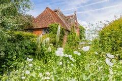 British castle garden in Sussex, England. Colorful British castle garden during spring in Sussex, England Stock Photo