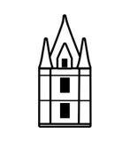 British castle isolated icon Stock Image