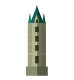 British castle isolated icon Stock Photos