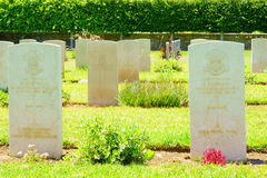 British Cemetery, Haifa. HAIFA, ISRAEL - JULY 21, 2015: Graveyard for British soldiers who died during the British mandate (1918-1948), in downtown Haifa, Israel Royalty Free Stock Images