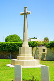 British Cemetery, Haifa. HAIFA, ISRAEL - JULY 21, 2015: A monument for British soldiers who died during the British mandate (1918-1948), in downtown Haifa Royalty Free Stock Photo