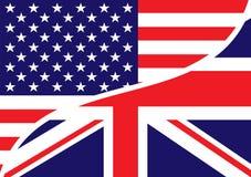 british chorągwiani usa royalty ilustracja