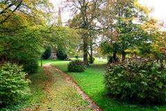 British church garden royalty free stock photo