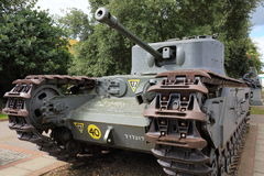 British Churchill Tank. Front view of a British Churchill tank Stock Photo
