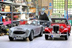 British classic cars royalty free stock photo