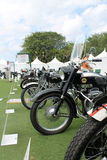 British classic motorcycle lineup Stock Images