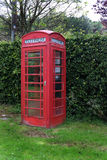 British classic red telephone box. Royalty Free Stock Photos