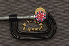 British coin is clamp pressure Royalty Free Stock Images