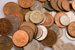 British Coins. Gold, silver and bronze Royalty Free Stock Images