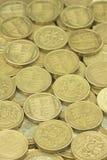 british coins ett pund Royaltyfri Bild