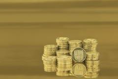 british coins ett pund Arkivbilder