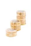 british coins ett pund Fotografering för Bildbyråer