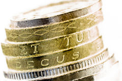 British coins macro  Royalty Free Stock Image