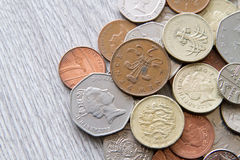 British coins. Mix of british coins - pence, penny, pounds Stock Photos