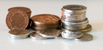 British coins. Mix the value Royalty Free Stock Photos
