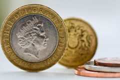 British Coins. A mixture of British coins stock image