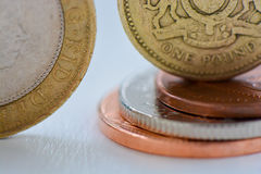 British Coins. A mixture of British coins stock photo