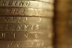 Coins Stack Closeup Royalty Free Stock Photos