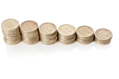 British coins stack Stock Photo