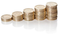 British coins stack Stock Photography