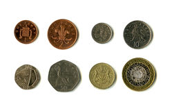 British Coins (Sterling). The British coins (Sterling / GBP Stock Photos